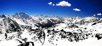 Beautiful view of mountains in the Elbrus area. Royalty Free Stock Photo