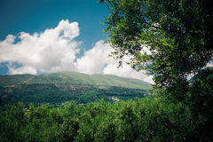 Beautiful view of the mountains of Greece Stock Photography
