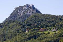 Mountain village in Lago di Garda stock image