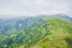 Beautiful view of the mountains in summer Stock Photography