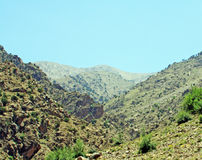 Beautiful view of mountains in sunny day. Beautiful view of Atlas mountains in sunny day Stock Photos