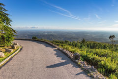Beautiful view from the mountains to Monchique, Portimão. Stock Photo