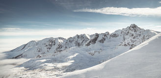 Beautiful view of mountains in winter Tatra. Panorama Stock Images