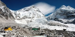 View of Mt Everest base camp Stock Photos