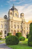 Beautiful view of the Museum of Art History in Vienna, Austria Royalty Free Stock Images