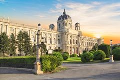 Beautiful view of the Museum of Art History in Vienna, Austria Royalty Free Stock Photography