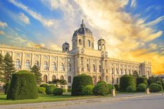 Beautiful view of the Museum of Art History in Vienna, Austria Royalty Free Stock Photo