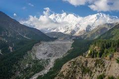 Beautiful view of Nanga Parbat mountain, Fairy Meadow, Pakistan. Asia royalty free stock image
