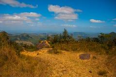 Beautiful view of the National Park of La Gran Piedra, Big Rock in the Sierra Maestra mountain range near Santiago de Cuba, Cuba. stock images