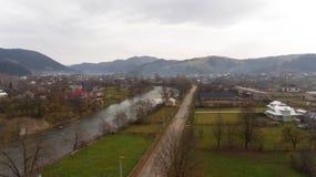 Beautiful view of nature near the Carpathian mountains stock photo