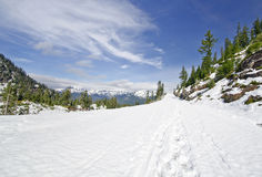 Beautiful View near Mt Shuksan coverd with snow Royalty Free Stock Photos