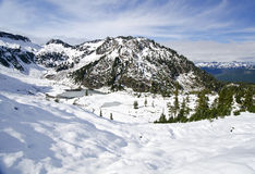 Beautiful View near Mt Shuksan covered with snow Stock Images