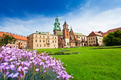 Beautiful view near Wawel Royal Castle Stock Image