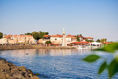 Beautiful view on the Nesebar, the ancient city on the Black Sea coast of Bulgaria. Stock Images