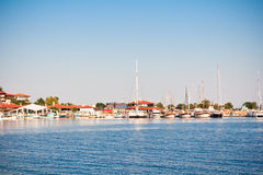 Beautiful view on the Nesebar, the ancient city on the Black Sea coast of Bulgaria. Royalty Free Stock Images