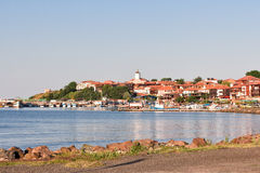 Beautiful view on the Nessebar, the ancient city on the Black Sea coast of Bulgaria. Stock Photo