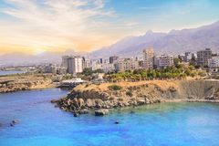 Beautiful view of the new port of Kyrenia Girne, North Cyprus Stock Photo