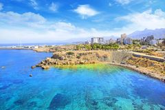 Beautiful view of the new port of Kyrenia Girne, North Cyprus Stock Images
