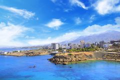 Beautiful view of the new port of Kyrenia Girne, North Cyprus Royalty Free Stock Image