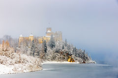 Beautiful view of Niedzica castle Stock Images