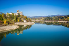 Beautiful view of Niedzica castle, Poland, Europe Royalty Free Stock Images