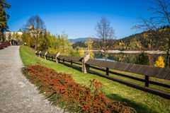 Beautiful view of Niedzica castle, Poland, Europe Royalty Free Stock Photo