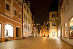 Beautiful view by night of the historic town of Nordlingen Stock Photography