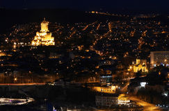 Beautiful view of Night Tbilisi Royalty Free Stock Photo