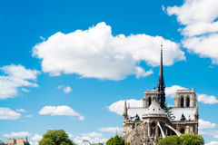 Beautiful view Notre Dame Cathedral in paris Stock Image