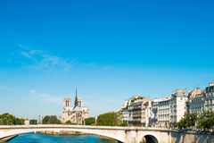 Beautiful view Notre Dame Cathedral in Paris Royalty Free Stock Images