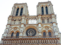 Beautiful view Notre Dame Cathedral in Paris Royalty Free Stock Photography