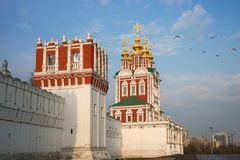 Beautiful view of Novodevichy Convent in Moscow, Russia Royalty Free Stock Photo