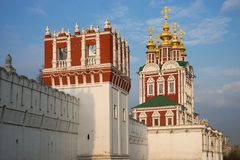 Beautiful view of Novodevichy Convent in Moscow, Russia Stock Image