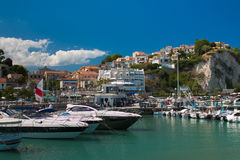 Beautiful view of Numana town and the harbor Royalty Free Stock Images