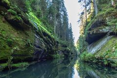 Free Beautiful View Of Edmund Gorge In Bohemian Switzerland National Park. Fairytale Land.Mythically Beautiful Natural Landscape Of The Royalty Free Stock Images - 198944579
