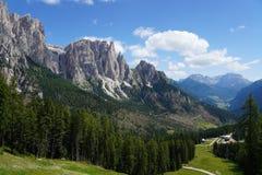 Free Beautiful View Of Mount Catinaccio Also Known As Rosengarten. Catinaccio Group On Summer, Val Di Fassa, Trentino, Italian Royalty Free Stock Image - 153764836