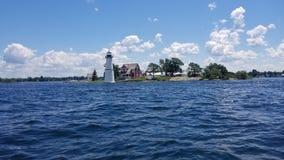 Free Beautiful View Of Rock Island Lighthouse, Thousand Islands, St. Lawrence Seaway, New York Stock Photo - 214004260