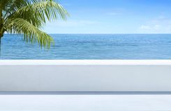 Free Beautiful View Of Sea Blue From Outdoor Terrace Royalty Free Stock Images - 101085729