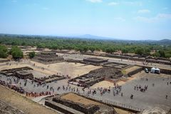 View of pyramid teotihuacan royalty free stock photo