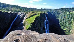 Beautiful view of rani,roarer and rocket falls in jog ,india stock images