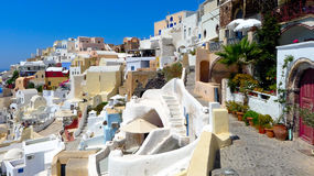 Beautiful view of oia in santorini Stock Photo