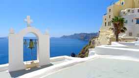 Beautiful view of oia in santorini Stock Image