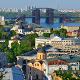 Beautiful view of the old district of Podil Royalty Free Stock Photos