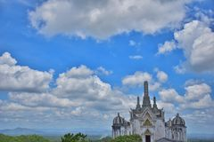 A beautiful view the old palace on the mountain. Royalty Free Stock Photo