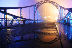 Beautiful view of the old town. Bridge at night Stock Images