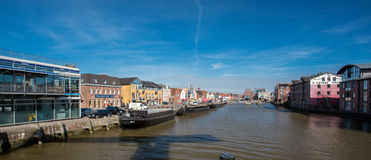 Beautiful view of the old town of Husum Royalty Free Stock Image