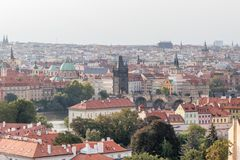 Beautiful view of Old Town Tower of Charles Bridge royalty free stock images