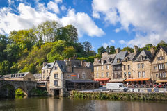 Beautiful view of old tradition house near the river port Royalty Free Stock Photos