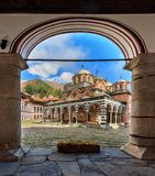 Rila monastery arched view Royalty Free Stock Photography