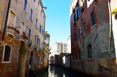 Beautiful view over the canals of Venice, Italy Stock Photography